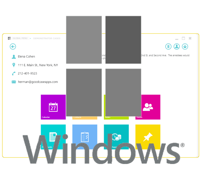 Windows Case Manager Desktop Product